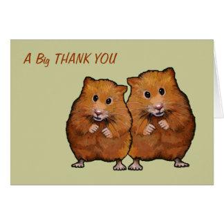 Dos hámsteres: Gracias nosotros dos Tarjeta De Felicitación