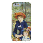 Dos hermanas (en la terraza) por Renoir Funda De iPhone 6 Barely There