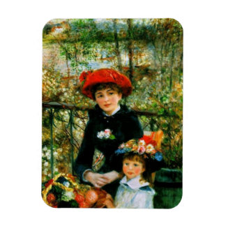 Dos hermanas en la terraza por Renoir Imanes