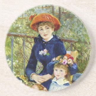 Dos hermanas en la terraza por Renoir Posavasos Diseño