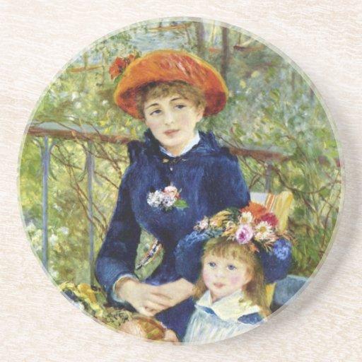 Dos hermanas (en la terraza) por Renoir Posavasos Diseño