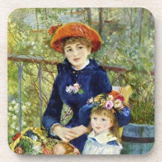 Dos hermanas (en la terraza) por Renoir Posavasos