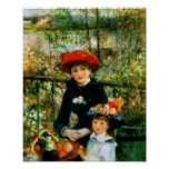 Dos hermanas en la terraza por Renoir Posters