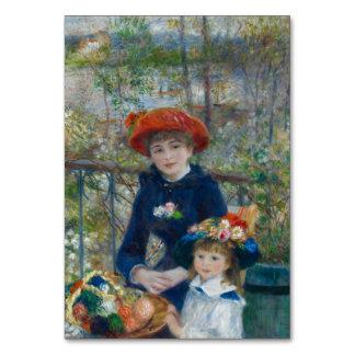Dos hermanas en terraza de Pierre-Auguste Renoir