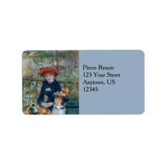 Dos hermanas en terraza de Pierre-Auguste Renoir Etiqueta De Dirección