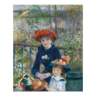 Dos hermanas en terraza de Pierre-Auguste Renoir Fotografías