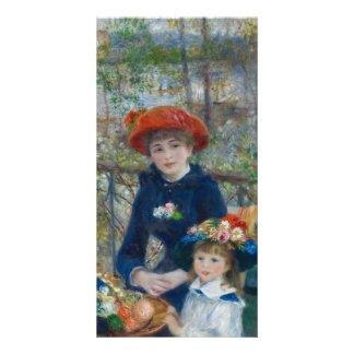 Dos hermanas en terraza de Pierre-Auguste Renoir Tarjeta Fotográfica Personalizada