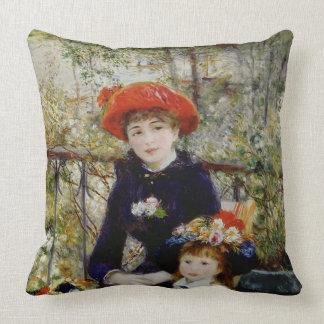 Dos hermanas, o en la terraza, 1881 almohadas