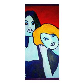 Dos hermanas por Piliero Tarjeta Publicitaria A Todo Color