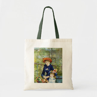 Dos hermanas por Renoir, arte del impresionismo Bolsa Tela Barata