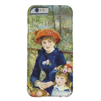 Dos hermanas por Renoir, arte del impresionismo Funda De iPhone 6 Barely There