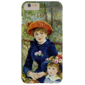 Dos hermanas por Renoir, arte del impresionismo Funda Para iPhone 6 Plus Barely There