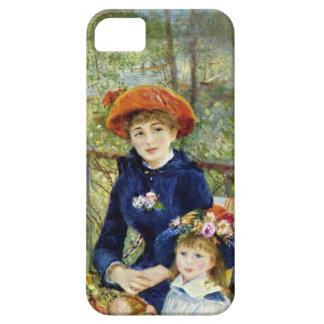 Dos hermanas por Renoir, arte del impresionismo iPhone 5 Carcasa