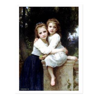 Dos hermanas que pintan por William-Adolphe Tarjetas Postales