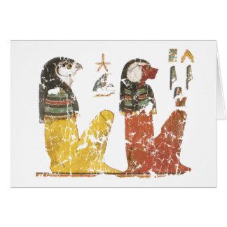 Dos hijos de Horus Tarjeta De Felicitación