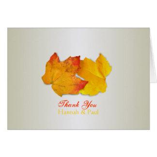 Dos hojas de plata le agradecen tarjeta del mensaj