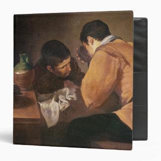 """Dos hombres en la tabla, c.1620-21 carpeta 1 1/2"""""""