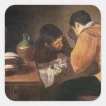 Dos hombres en la tabla, c.1620-21 colcomanias cuadradas