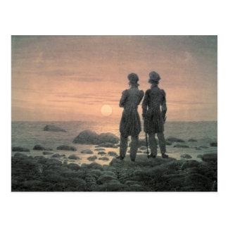 Dos hombres por el mar tarjetas postales