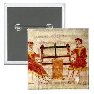 Dos hombres que asierran la madera, de 'De Univers Pin Cuadrada 5 Cm
