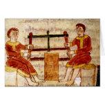 Dos hombres que asierran la madera, de 'De Univers Tarjeton