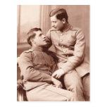 Dos hombres tarjeta postal