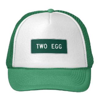Dos huevo, marcador del camino, la Florida, los Gorras De Camionero