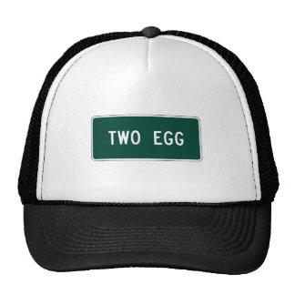 Dos huevo, marcador del camino, la Florida, los Gorra