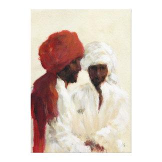 Dos imanes impresión en lienzo