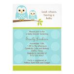 Dos invitaciones azules de la fiesta de bienvenida invitacion personal