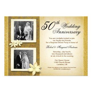 dos invitaciones del aniversario de boda de las fo
