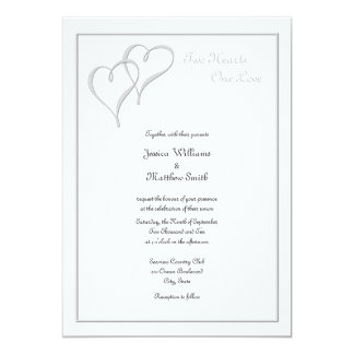 Dos invitaciones del boda del amor de los invitación 12,7 x 17,8 cm