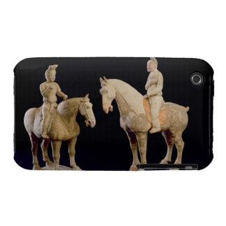 Dos jinetes, chinos, dinastía Tang (618-906) (tier iPhone 3 Case-Mate Protectores