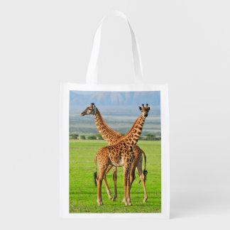 Dos jirafas bolsa de la compra