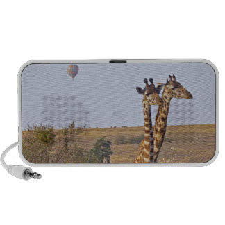 Dos jirafas (camelopardalis) del Giraffa, Masai iPod Altavoces