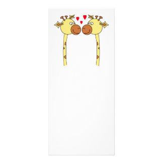 Dos jirafas con los corazones rojos del amor. Dibu Lona Publicitaria