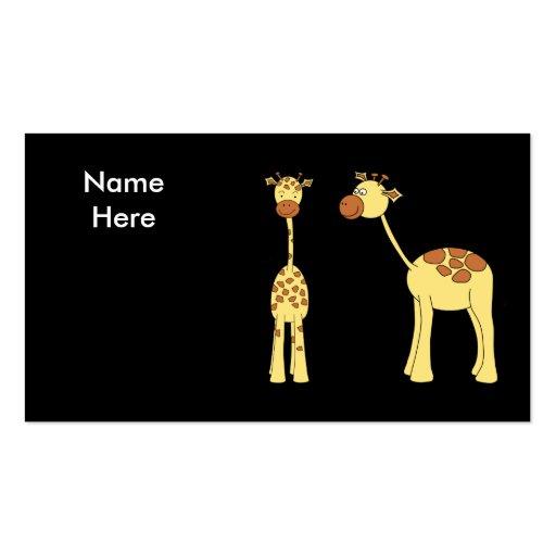 Dos jirafas. Dibujo animado Tarjetas De Visita