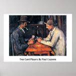Dos jugadores de tarjeta de Paul Cezanne Posters