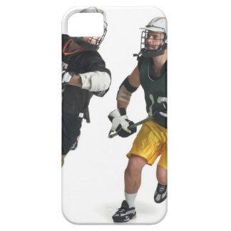 dos jugadores masculinos caucásicos del lacrosse funda para iPhone 5 barely there