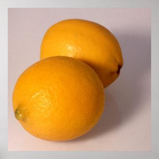 Dos limones póster