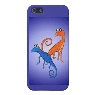 Dos Lizards_ Shell duro iPhone 5 Carcasas