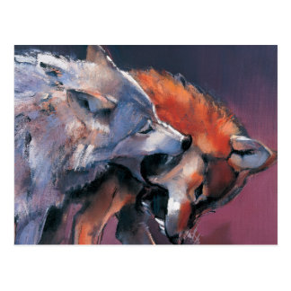 Dos lobos postal