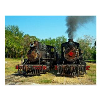 Dos locomotoras de vapor de Baldwin Tarjetas Postales