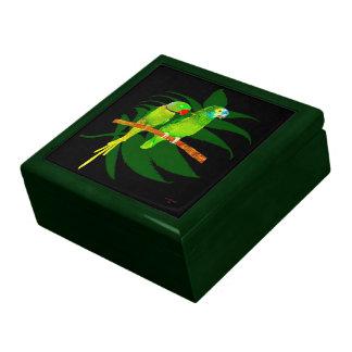 Dos loros cajas de joyas
