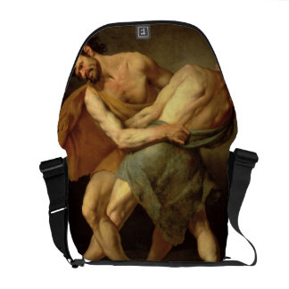 Dos luchadores bolsas messenger