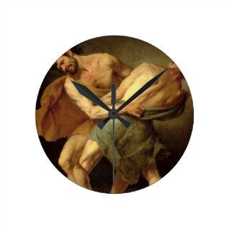 Dos luchadores relojes de pared