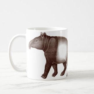 Dos malayos o taza de café asiática de los Tapirs