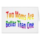 Dos mamáes mejoran (el arco iris) felicitaciones