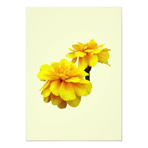 """Dos maravillas amarillas invitación 5"""" x 7"""""""