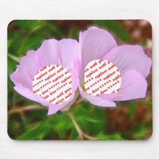 Dos marcos de las amapolas para dos fotos mouse pads
